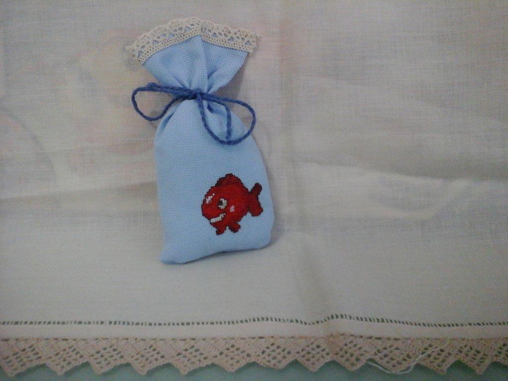 sacchetti nascita o battesimo in punto croce