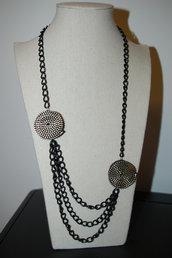 collana con cerniera nera riciclo creativo