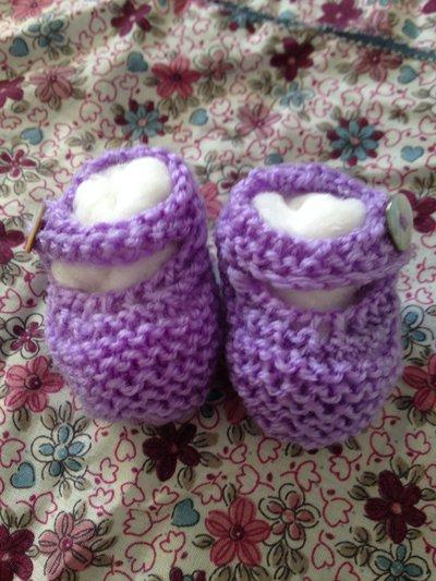 ballerine di lana per neonato