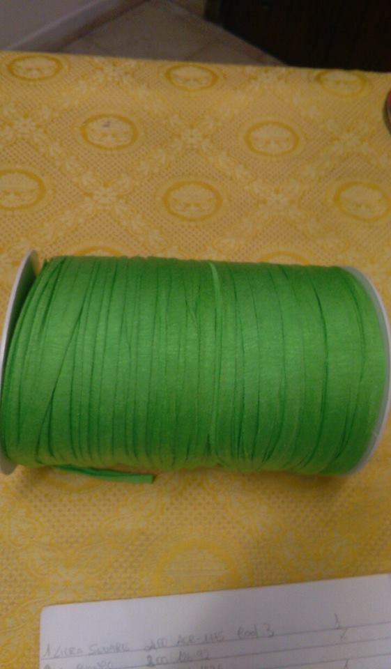 fettuccia in licra verde mela