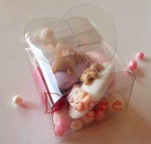 Cubetto cuore confetti decorati - segnaposto battesimo - segnaposto compleanno - confettata nascita - confettata battesimo - cadeuaux nascita - regalo nascita - bomboniere nascita - idee nascita
