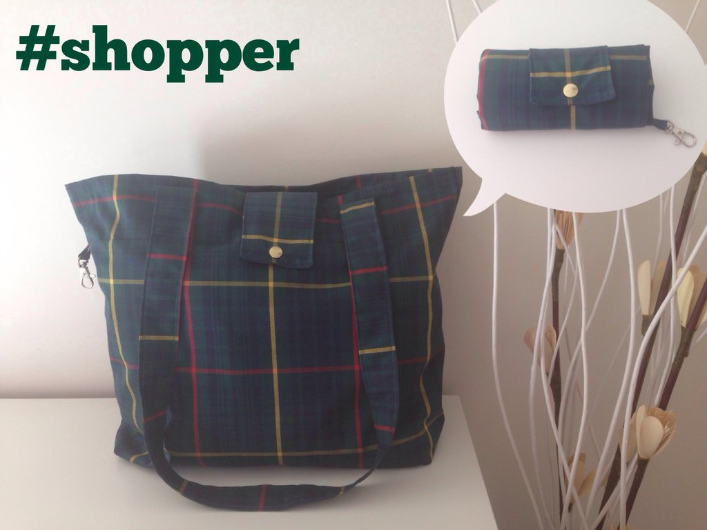 Shopper impermeabile richiuibile