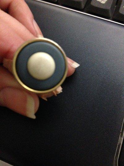 anello bottone carta da zucchero