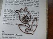 """Segnalibro in rame """"Fiore """""""