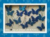 farfalla segnalibro - segnaposto - bomboniera