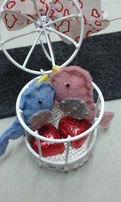 gabbietta con uccellini valentini