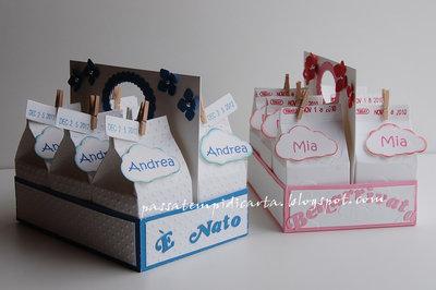 bomboniere/porta confetti nascita o battesimo