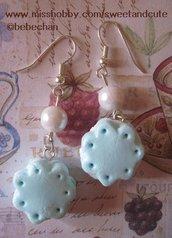 Orecchini Biscotto - light blue