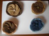 spilla lana cotta rosone 3 colori
