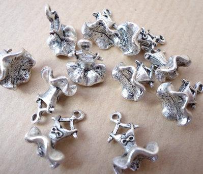 5pz ciondoli VESTITO BALLERINA - silver cm 1,3