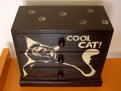 """Portagioie in legno """"Cool Cat"""""""