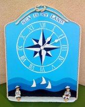 """Orologio da parete """"Sea is my land"""""""