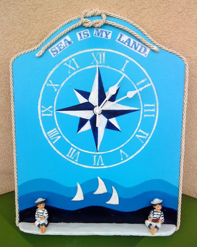 "Orologio da parete ""Sea is my land"""