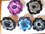 Spilla lana cotta rosone 4 colori
