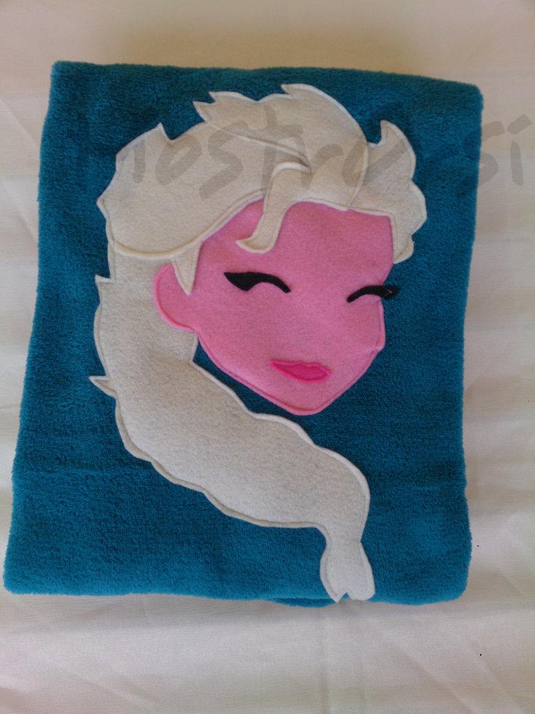 copertina lettino Frozen Elsa in pile