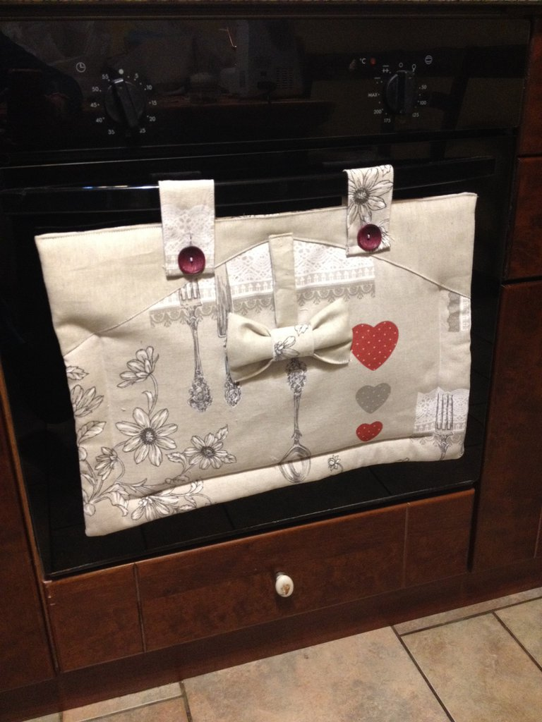 Copri forno in stoffa per la casa e per te cucina di for Copri cucina ikea