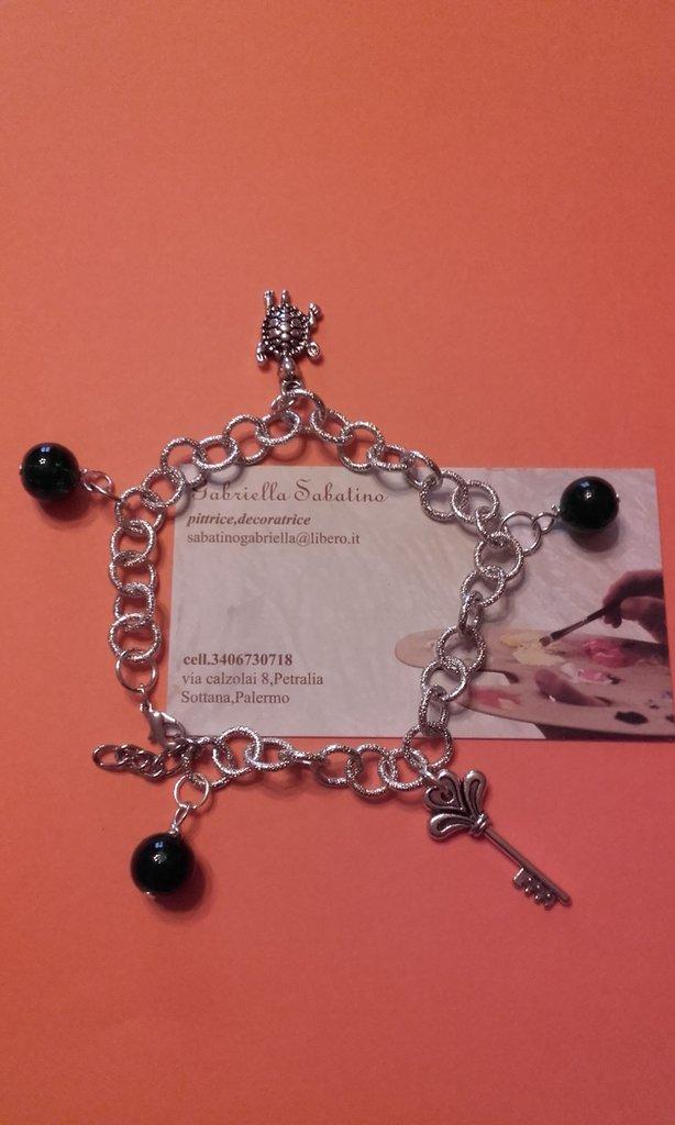Braccialetto in alluminio charms