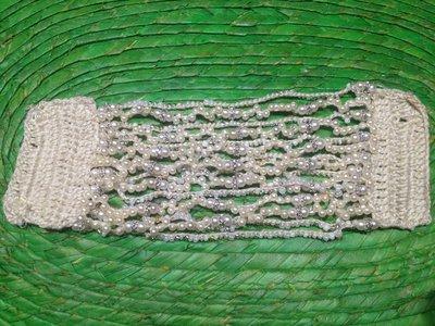 """Bracciale crochet e perline """"Elegante"""""""