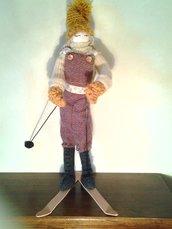 Bambola sugli sci