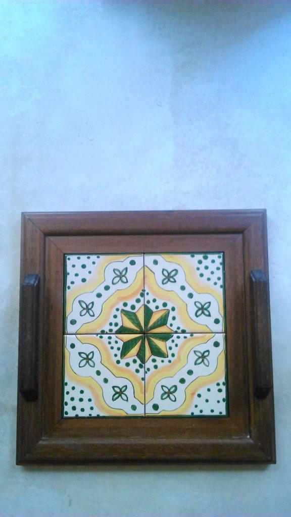 vassoio legno ceramica