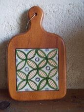 Tagliere in legno e ceramica