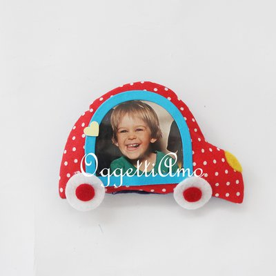 Originali cornici di stoffa a forma di veicolo come bomboniere o gadget di compleanno!