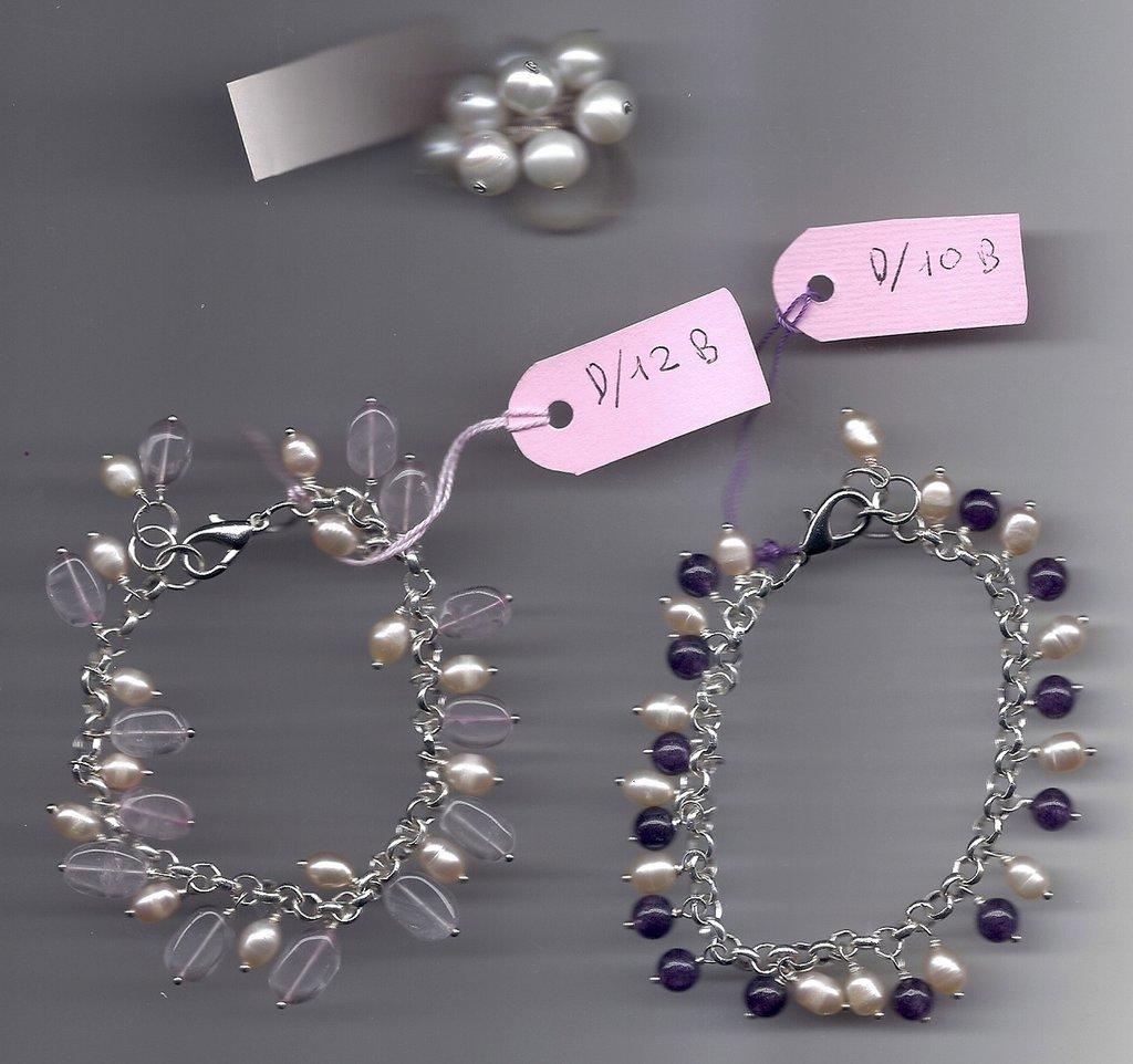 Anello charms perle coltivate.