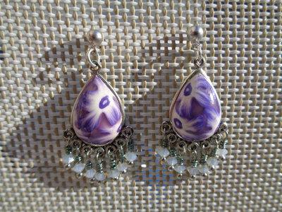 Pendenti in pasta polimerica fiori viola