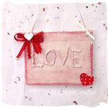 Mini targa in legno LOVE per San Valentino