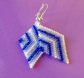 Violet journey earring pendant / Orecchini Pendenti Viaggio nel viola con perline