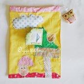 Sacca in stoffa ricamata: gufi e civette per sacche fatte a mano per il cambio, la scuola o il tempo libero!