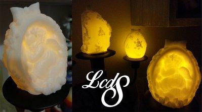 Candela in cera con LED - Ovetto con Angelo