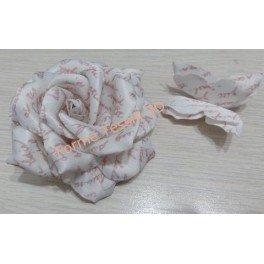 Rosa shabby bianca con scrittura - Forme Tessili 3D