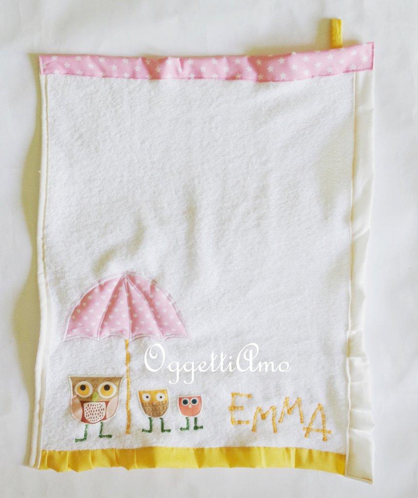 Asciugamani 'Gufi e civette': un asciugamano su misura per la tua bambina
