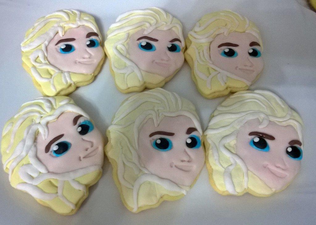 Biscotti Decorati Compleanno Elsa Frozen Cake Design Pronti Da
