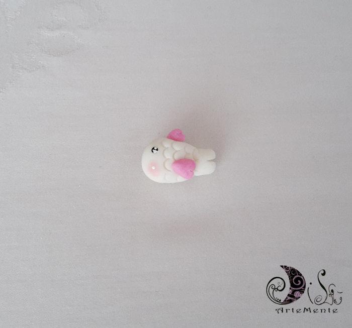 Bomboniere battesimo ciondoli animaletti pesciolino rosa per bimba