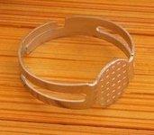 1 Base anello rotonda acciaio inox