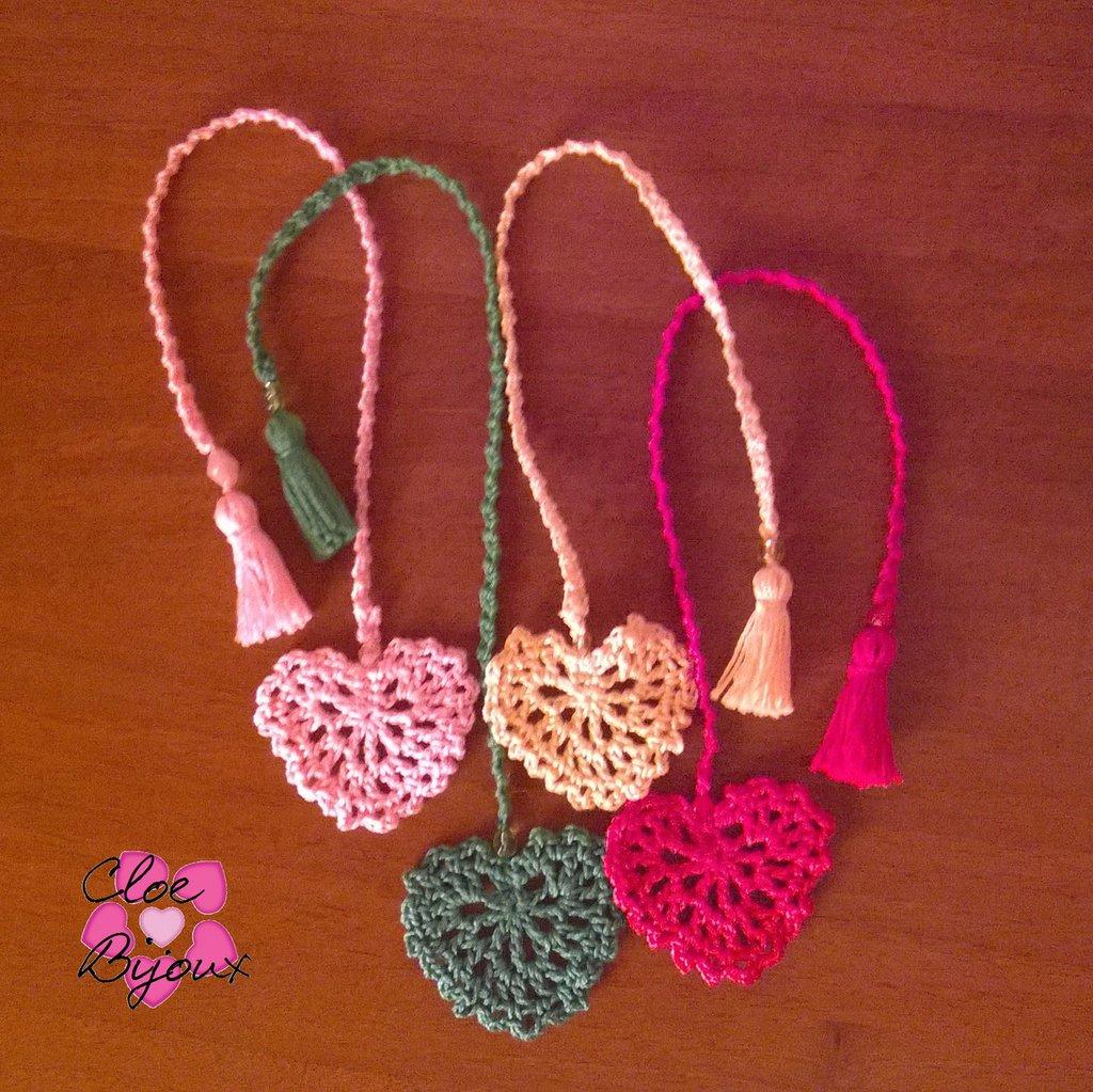 Segnalibri Cuore Crochet