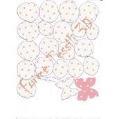 Rosa shabby avorio a pois rosa - Forme Tessili 3D