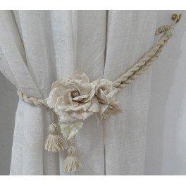Rosa con stampa vecchio centrino - Forme Tessili 3D