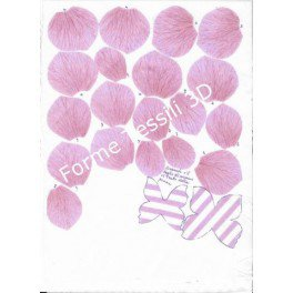 Rosa shabby con venature - Forme Tessili 3D