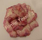 Rosa vintage rosa scuro - Forme Tessili 3D