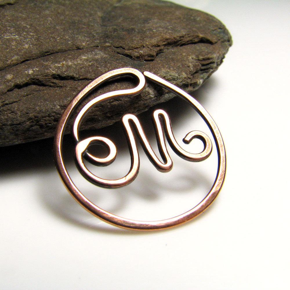 Piccolo segnalibro, segnalibro metallo, idea regalo, segnalibro lettera M, segnalibro personalizzato