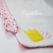Asciugamani 'Principesse' con corone ricamate: un morbido asciugamano per il suo ingresso a scuola