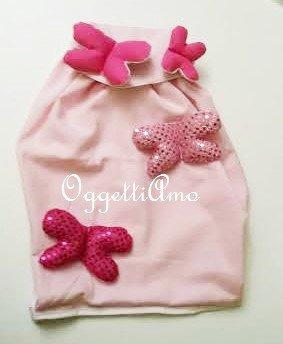 Zainetto ricamato con farfalle glitterate: uno zaino rosa per la più romantica delle bambine!