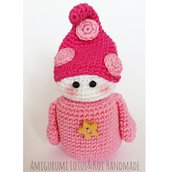 Folletto Amigurumi realizzato interamente a mano all'uncinetto