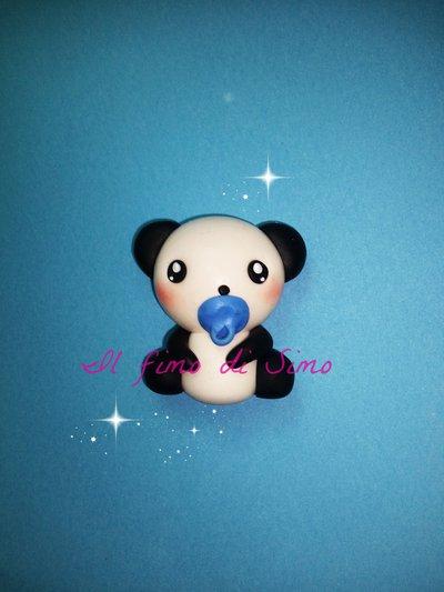 bomboniera panda in fimo