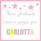 Ghirlanda CARLOTTA: una decorazione in stoffa per la sua cameretta