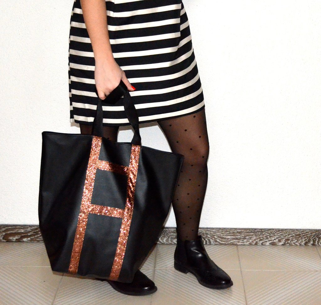 Borsa black and bronze