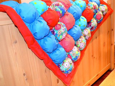 Coperta bubble quilt multicolore